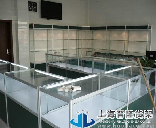 上海晋货架玻璃展柜