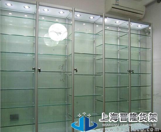 上海晋隆货架药品玻璃展柜