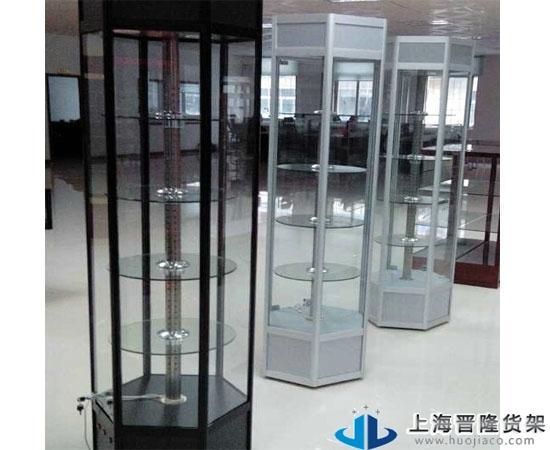 上海手表旋转玻璃展柜价格/尺寸