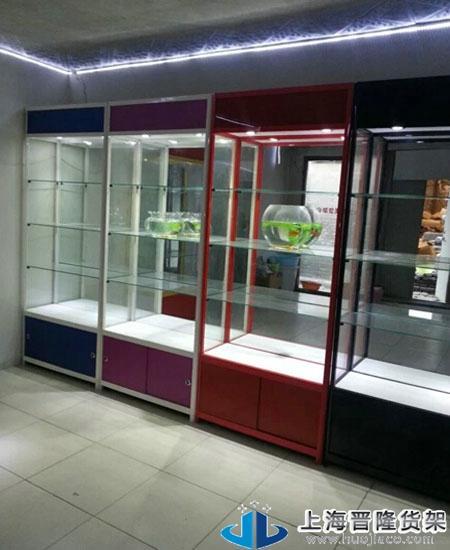 上海玩具立式展柜定做各种款式类型