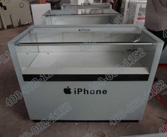 上海苹果手机展柜现场效果图